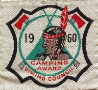 1960 Many Point Camping Award - Patch from Mr. Steve Young - Thank you!