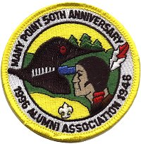 1996 MPSAA Alumni Anniversary Patch for the 50th Anniversary - Courtesy Steve Young